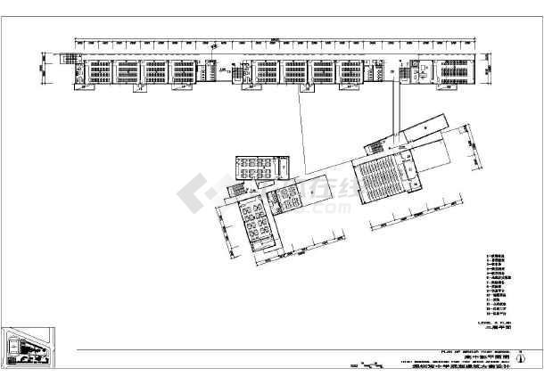 深圳市某五层中学教学楼建筑设计方案_cad图纸下载图片