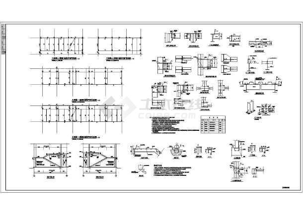 吊车多厂房图纸多台吨位钢结构施工图1(设计院wow弄怎么锻造双层图片