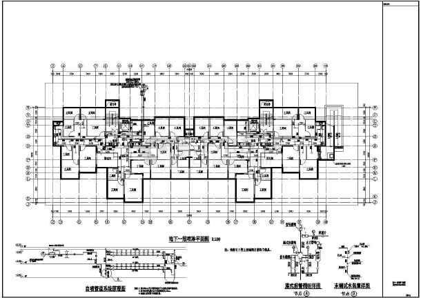 江苏某地18层综合楼建筑给排水设计图