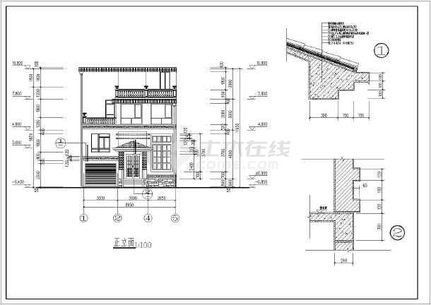 某地四层农村自建房建筑设计施工图-图3