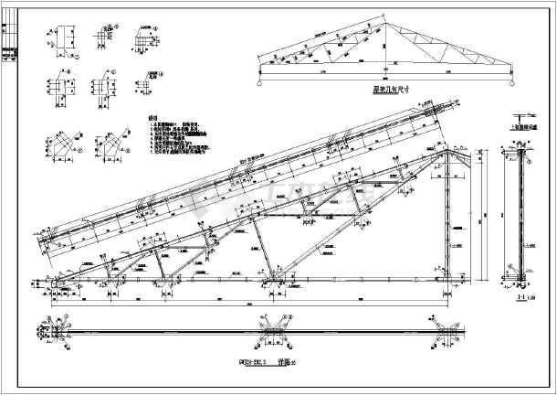 24米跨钢结构屋架结构设计施工图