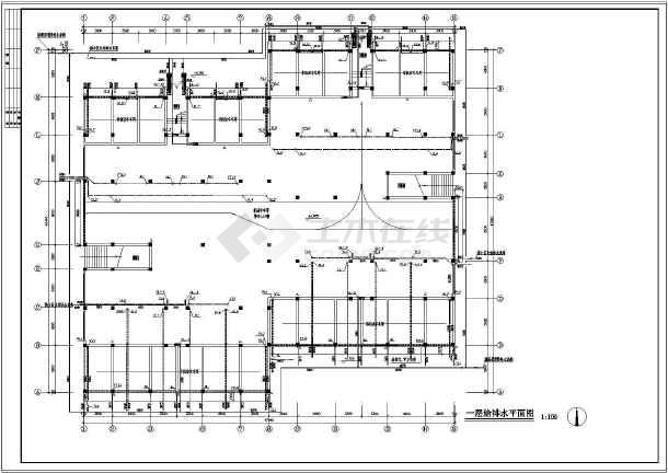 【浙江】某连体住宅楼给排水设计图-图3