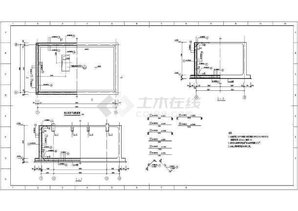 某砖混结构水池泵房结构设计施工图