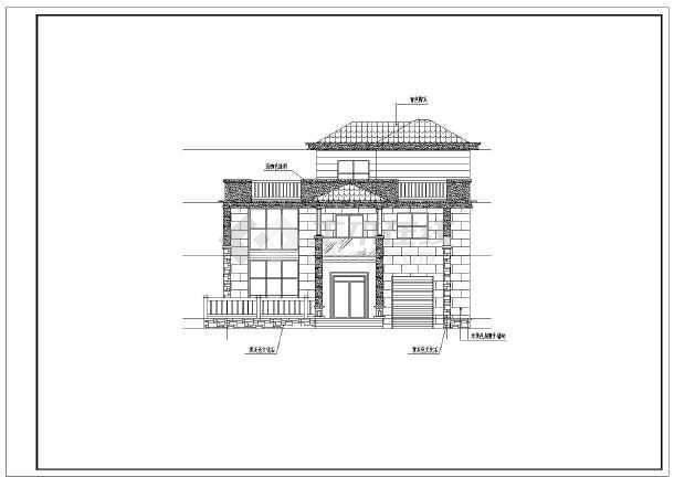 自建房小别墅建筑施工图图片1