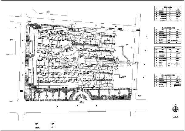 本图纸为【青岛市】某地区某小区住宅施工图纸,内容包括:总平面图等