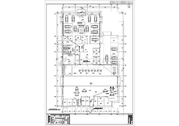 【安徽】两层钢结构带维修车间4s汽车店建筑施工图(含