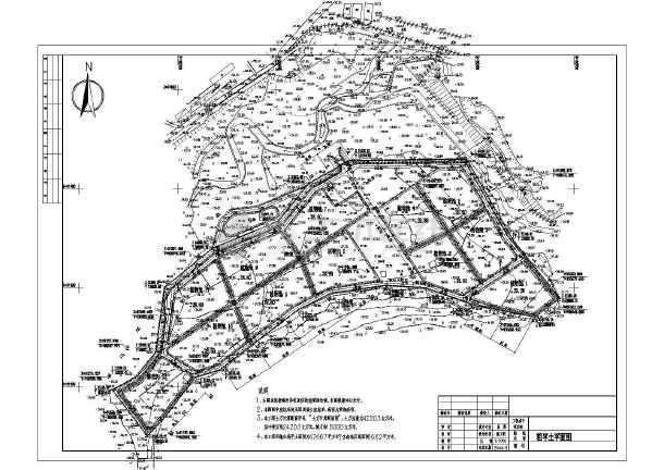 人工湿地土方计算cad图(断面图)cad2006在字体哪个文件夹图片