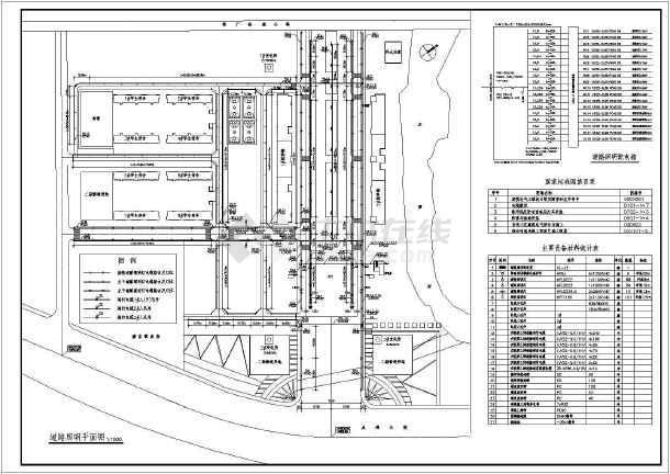中学电气总平面图规划设计施工图