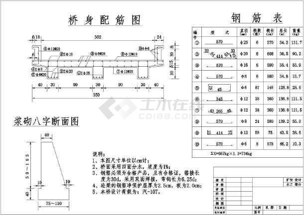 某地一净跨5m简支板桥初步设计图纸-图1