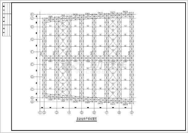 某管桁架屋盖钢结构深化设计施工图