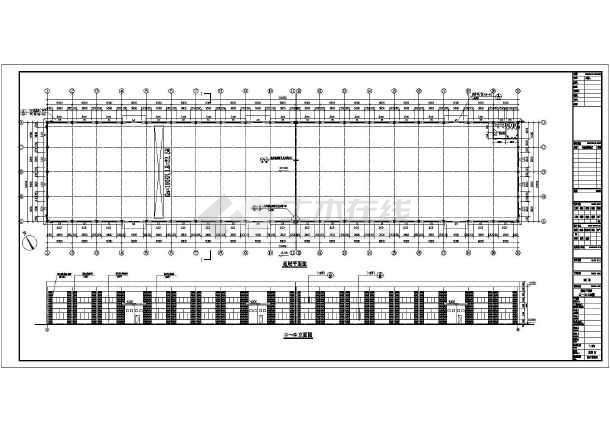 某地区24米跨框-排架厂房施工图纸