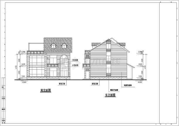 南通两层砖混结构小别墅建筑结构设计施工图