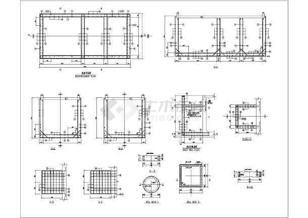 某地英文版化粪池结构设计施工图纸