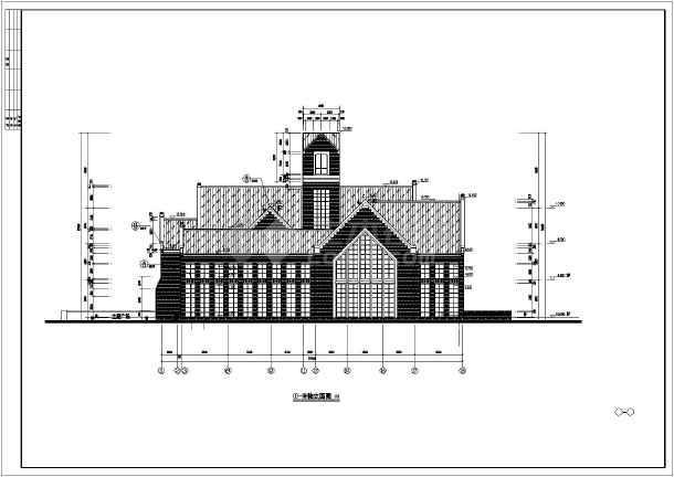某两层框架结构教堂建筑设计施工图纸
