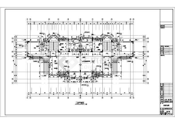 碧桂园某地3层框架结构双拼别墅建筑设计施工图