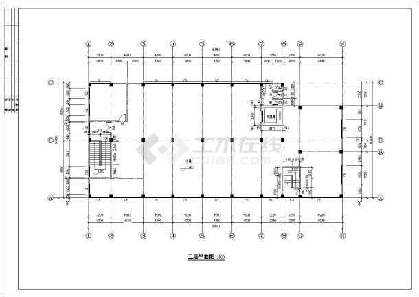 某水利工程三层丙类厂房建筑方案设计图