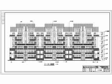单元式多层住宅楼设计图 (360x270)-多层户型住宅施工设计图