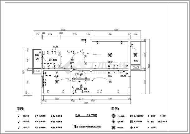 一厅户型家装建筑设计施工图,图纸内容:原始结构图,规划结构图,平面