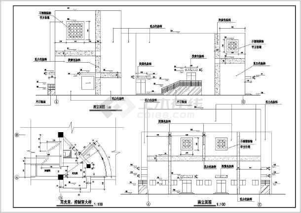 某地区网架结构小型剧场建筑方案图