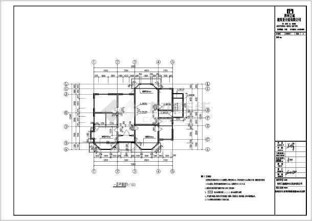南方某地一木结构别墅全套施工图(含有建筑图)-图3