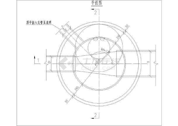 收口式砖砌检查井大样图(dn200-dn600)