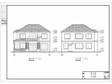 某农村两层带阁楼别墅建筑设计施工图(含结构设计)图片