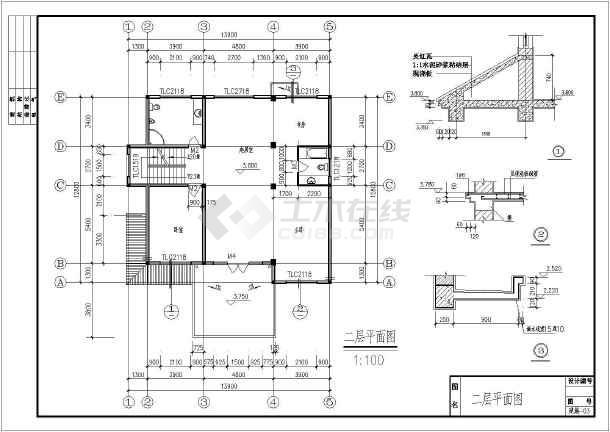 某农村两层带阁楼别墅建筑设计施工图(含结构设计)图片3