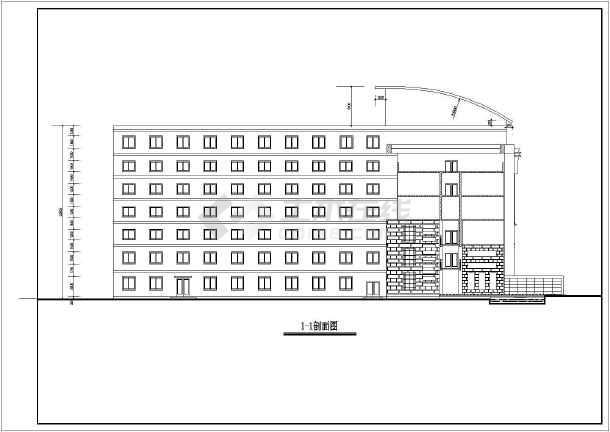 北方某六层办公楼建筑设计方案图纸