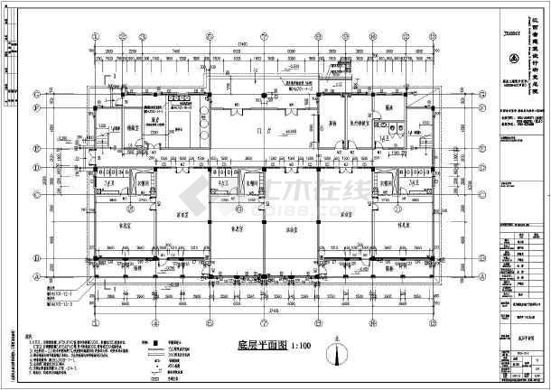 江西某星洲湾小区三层幼儿园建筑设计施工图