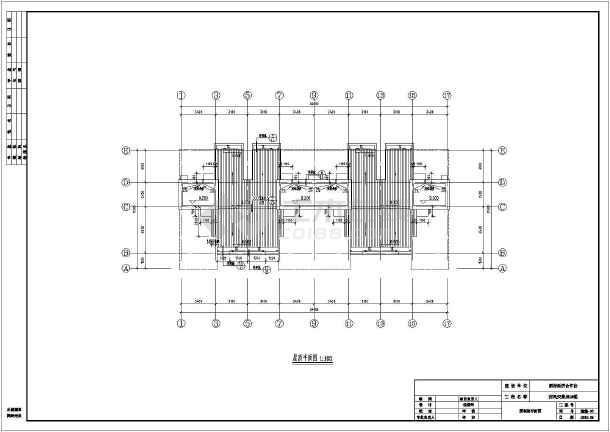 某农村二层联排安置房建筑设计方案_cad图纸下载-土木