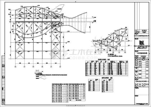 扬中河豚结构观光塔全套钢结构施工图纸