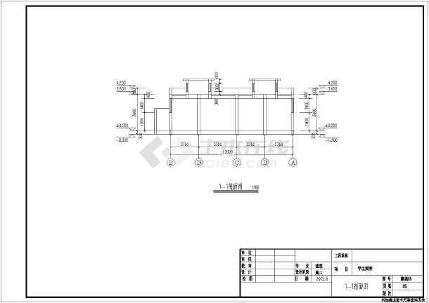 某学校1层砖混结构厕所建筑设计施工图