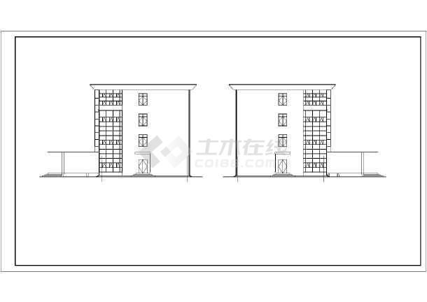 南方城市四层办公楼建筑施工设计图纸