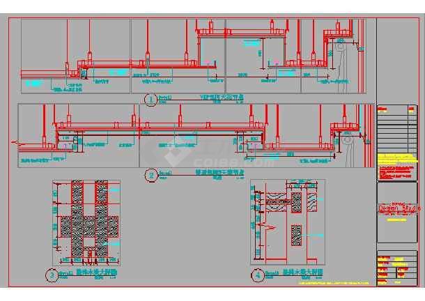 山西某二层中式茶馆装修设计施工图