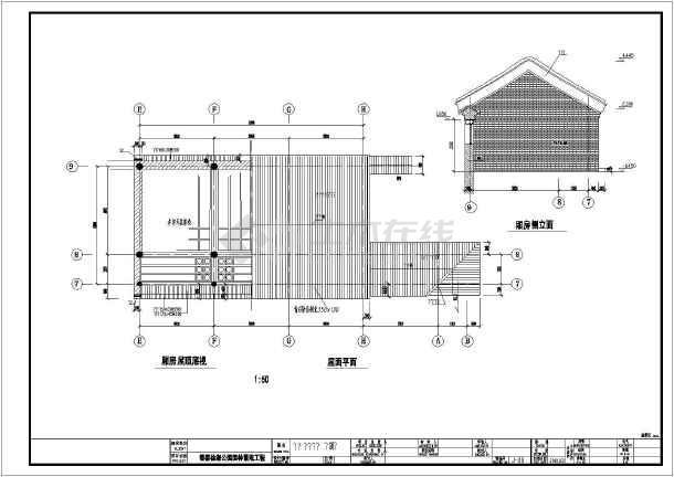 经典四合院建筑,结构设计图