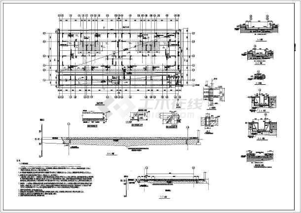 基础换填,筏板基础配筋图图片1