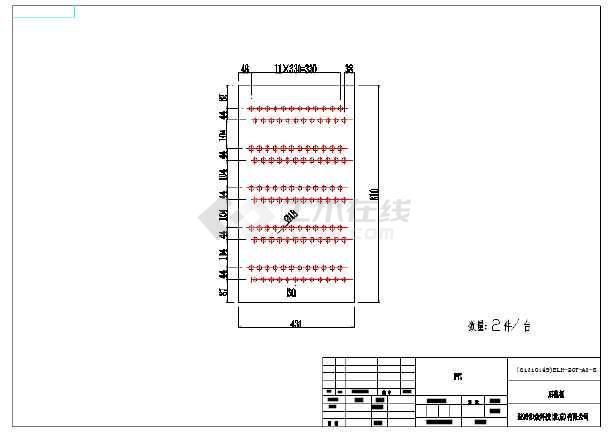 四川绵阳某工程20t冷却塔总图图片3