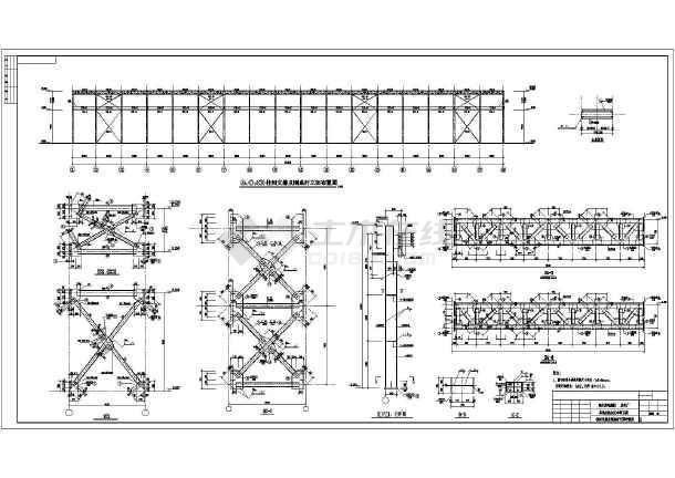 单层钢结构门式刚架厂房施工图(钢筋混凝土独立基础)