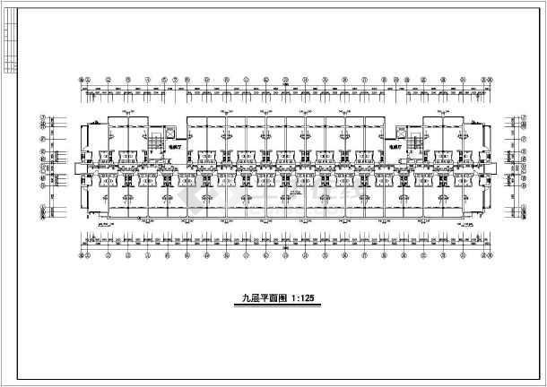 小高层单身公寓方案图(含建筑面积)-图2
