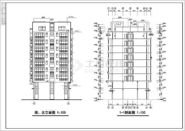 小高层单身公寓方案图(含建筑面积)-图1