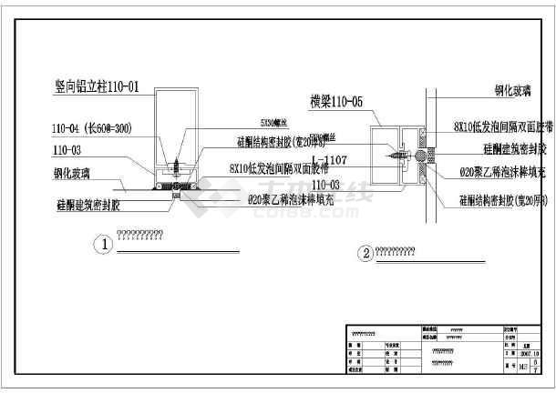 某地区玻璃幕墙图纸(含v图纸说明)_cad图纸要求工程图纸下载图片