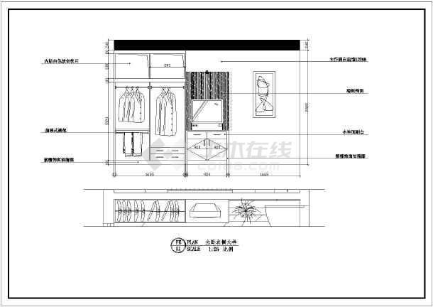 某地农村自建房室内装修设计平面布置施工图图片3