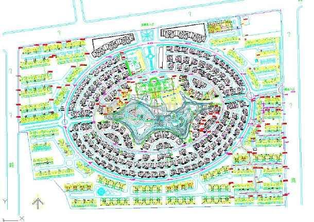 专题首页  园林广场平面图  本资料为某市永福小型陵园景观园林总平面