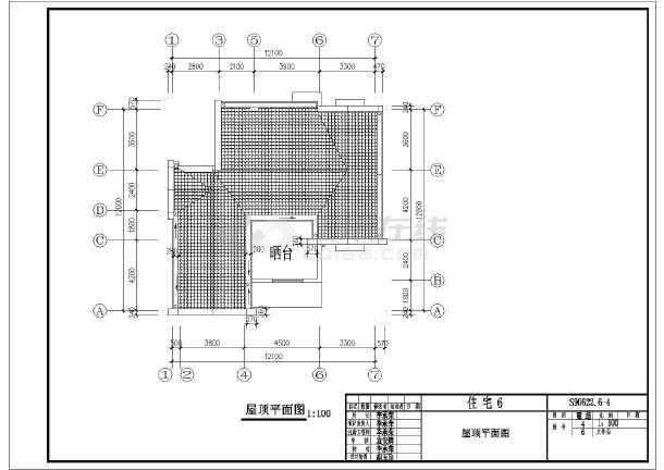 某地单家独院式别墅建筑设计图(造价适中)
