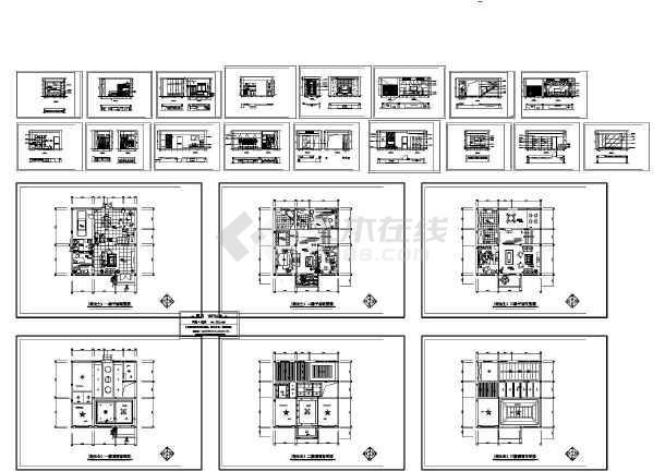 别墅室内装修施工图 图1高清图片