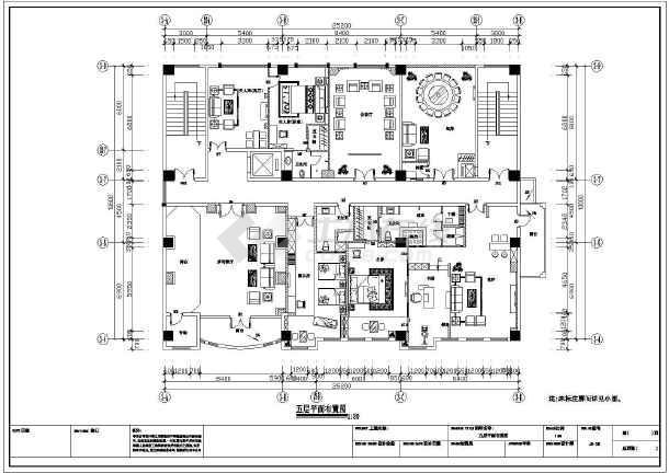 装修 设计图 大理/大理一幢5层的快捷酒店装修强电设计图/图5