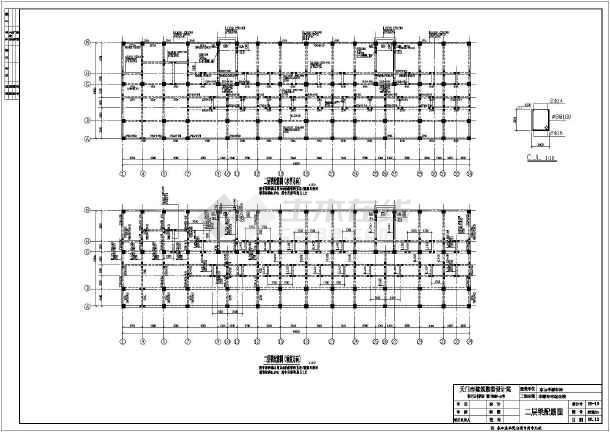 某地7层底框结构商住楼全套结构施工图
