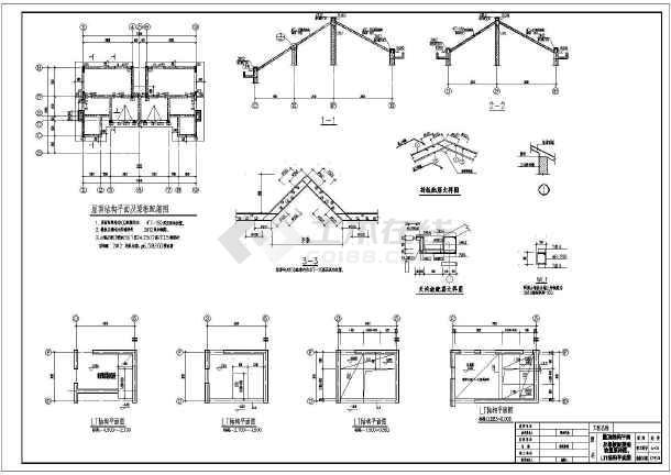 某地三层砌体结构双拼别墅结构施工图纸