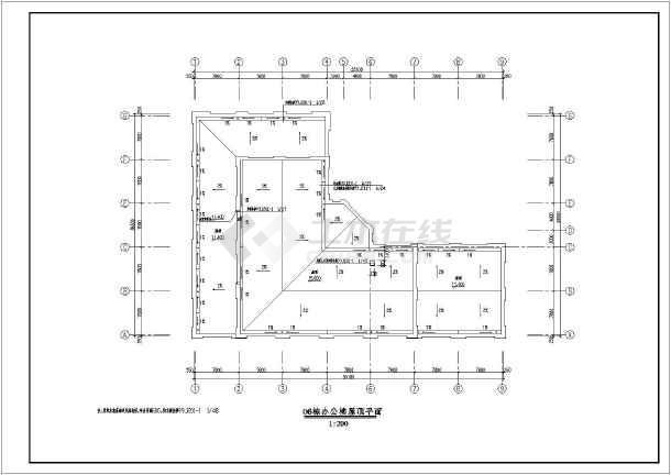 4层框架结构简欧式科研办公楼建筑方案图,图纸包括各层平面图,立面图