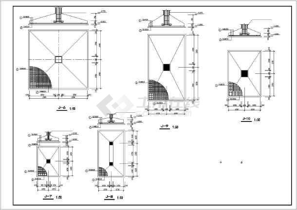 某地四层框架结构试验车间结构设计施工图